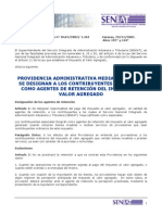 Providencia Contribyentes Especiales