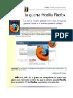 Firefox y la guerra de Navegadores para Internet