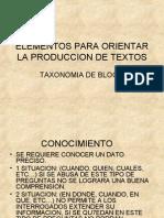 Elementos Para Orientar La Produccion de Textos