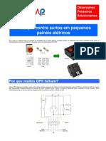 Proteção contra surtos em pequenos painéis elétricos
