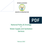 National Policy and Strategy for Water and Sanitation