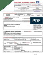 Formulario HP Para Solicitud de Servicios Post Venta 3.0 PlanetaPC