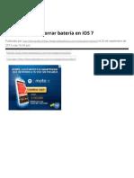 Cómo ahorrar batería en iOS 7