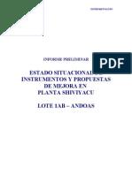 Informe Estado Situacional de Instrumentación-Base Shiviyacu