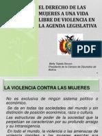 El derecho de las mujeres a una vida libre de violencia en la agenda legislativa