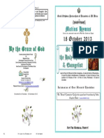 2013 - 18 Oct - St Luke the Apostle & Evangelist