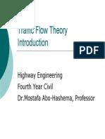 3.Traffic Flow Theory (Lec 3)