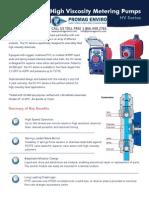 Walchem Pump EH-HV Series Brochure, EWN, EHE35E1, EHE35E2