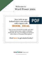 Learn Italian - Word Power 2001