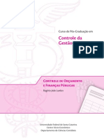 Controle e Orçamento das Finanças Públicas