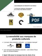 Sensibilité aux marques de produits culturels