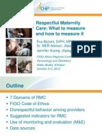 Respectful Maternity Care