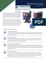 Walchem Pump EK Series Brochure, EKB, EKC