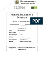 Ejercicios Taller de Programación -01 -I