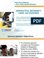Respectful Maternity Care