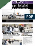 Manuel Peñafiel una carta desde París