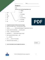 Language Test 3A