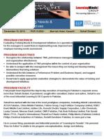 Evaluating Training Needs & Development Initiative - Dec 10, 2013 - KHI