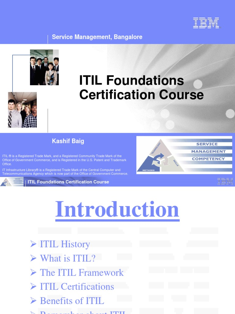 6998904 Itil Foundations Certification Course1ppt Itil It