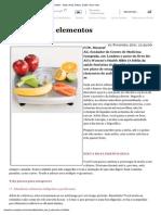 A Dieta Dos 4 Elementos