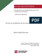 Marcos Ruíz Suescun - El cine en la didáctica de las ciencias sociales