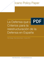 La Defensa que viene. Criterios para la reestructuración de la Defensa en España