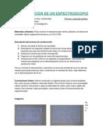 CONSTRUCCIÓN DE UN ESPECTROSCOPIO (Informe 1)