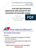 International and Latin-American experiences with policies for the promotion of renewable energy