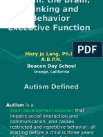 Autism the Brain,Thinking and Behavior Executive Function