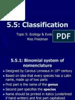 IB T5 5 Classification