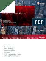 Detecting and Preventing Intruders - M Mastrangelli