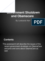 government shutdown  obamacare by leo n  1