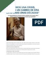 NO VIVIMOS UNA CRISIS_sociólogos