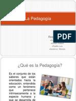La Pedagogía