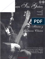 Cayo Sila Godoy en Programas de Conciertos - 8 Decadas de Musica y Guitarra Clasica - Idea de Elisa Concepcion Godoy Alvarez - Portalguarani