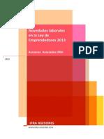 Novedades laborales en la Ley de Emprendedores 2013 - IFRA ASESORES