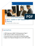 Update on SAP Supply Chain Planning SCM7 Pack1and2