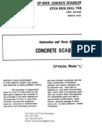 CP-0006 Concrete Scabbler