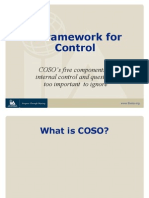 MU 1 COSO Control Framework n