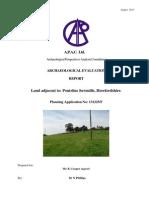 Land Adjacent to Pontrilas Sawmills, Pontrilas, Herefordshire. Archaeological Evaluation