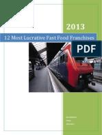 12 most lucrative fast food franchises
