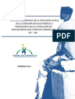 Informe Diagnostico Salud Mental AIL Privados de Libertad SENAME Tierra Esperanza Febrero 2012