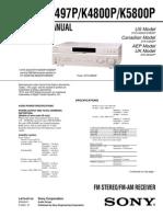 Sony Str De497p(k4800p,k5800p)