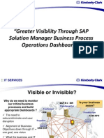 SAP Solution Manager Business Process Operations Dashboards