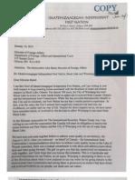 Shoal Lake 39 Letter to Baird