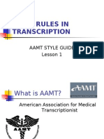 Basic Rules of Transcription Aamt
