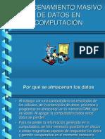 Almacenamiento de Datos en Computacion