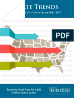 State Trends Legislative Victories from 2011-2013 Removing Youth from the Adult Criminal Justice System (October 2013)