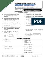 ARITMETICA 1º CUATRO OPERACIONES-SUST. - MULT.(semana 1)