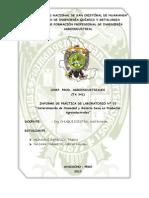 INFORME DE PRACTICAS Nº 1 DETERMINACIÓN DE HUMEDAD